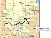 Map - Sudan and South Sudan 1956 border