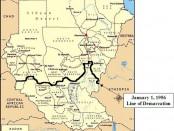 Map - Sudan and South Sudan 1956 border