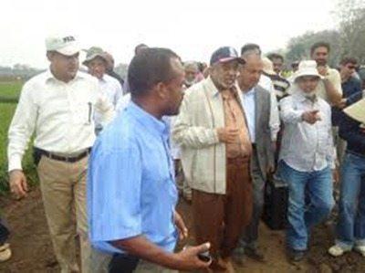 Al-Amoudi visiting rice Farm - Gambella, Ethiopia - 2011