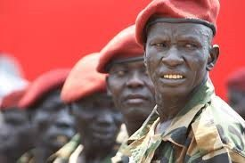Photo - South sudanese troops
