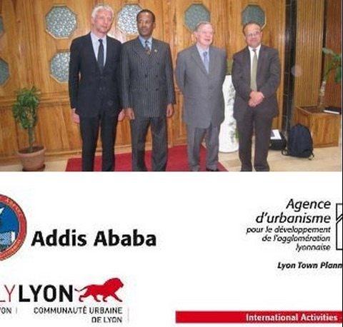 Photo - Addis Ababa Mayor Kuma Demeksa and French Lyon city officials