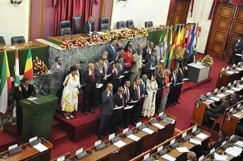 Photo - PM Hailemariam's new cabinet taking oath