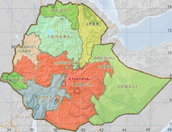 Map - Ethiopia regional map