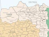 Map - Tigray region and North Gondar, Amhara region