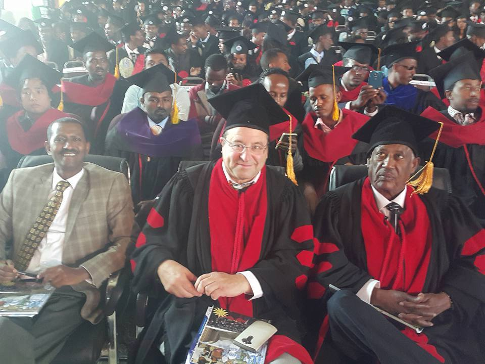 Photo - Axum University awarded Sebhat Nega Honorary Doctorate