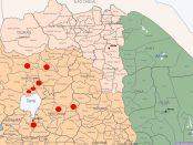 Map - Incident locations in Amhara region, Ethiopia