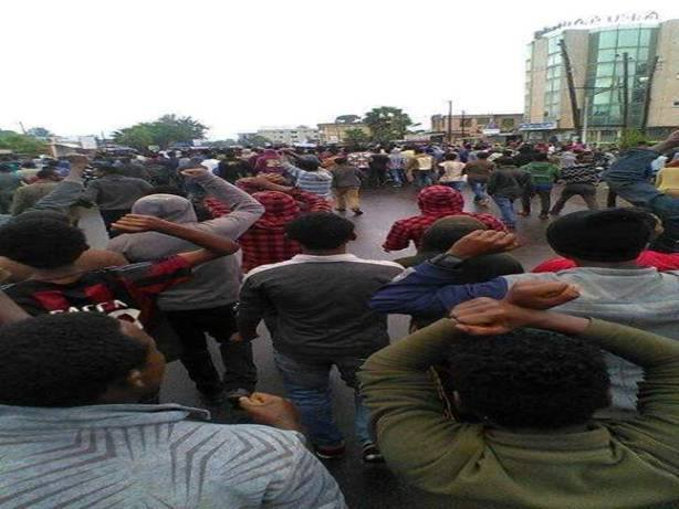 Photo - Oromo protest in Woliso, August 6, 2016 [Credit: Social media]