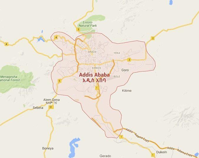 Map - Addis Ababa, Finfinnee, Oromiya