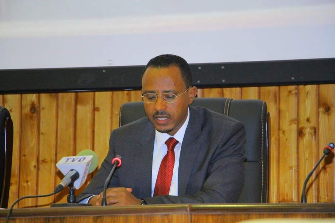 Photo - President Lemma Megersa at Cheffee Oromia, July 2017