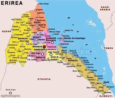 Map - Eritrea's historic regional map