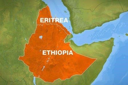 Map - Ethiopia, Eritrea
