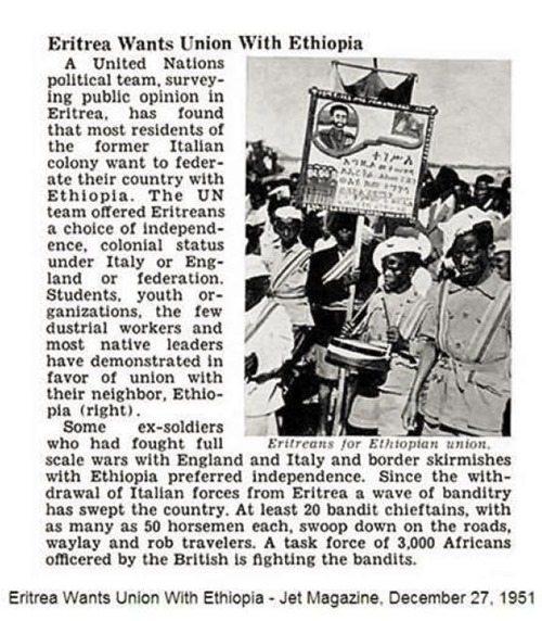 Image - Eritrea wants union with Ethiopia 1952