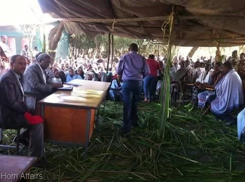 Photo - Tigrai President Abay Woldu in Raya zone drought areas