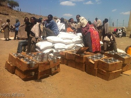 Photo - aid supply in Tigray, Raya zone