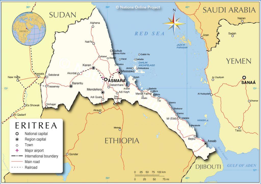 Map - Eritrea