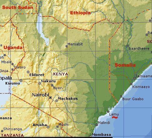 Map - Lamu port, Kenya, Ethiopia, South Sudan corridor