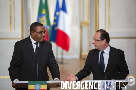 President Francois Hollande and Prime Minister Hailemariam Desalegne - Joint Press Briefing