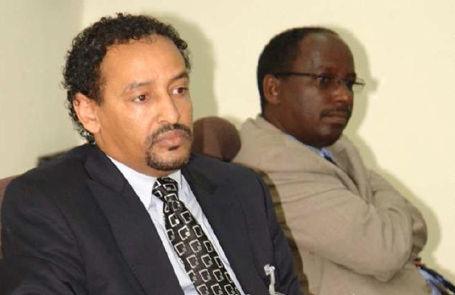 Minister Melaku Fanta and Gebrewahed Woldegiorgis [Director General and Deputy of Revenues and Customs Authority] Left to Right