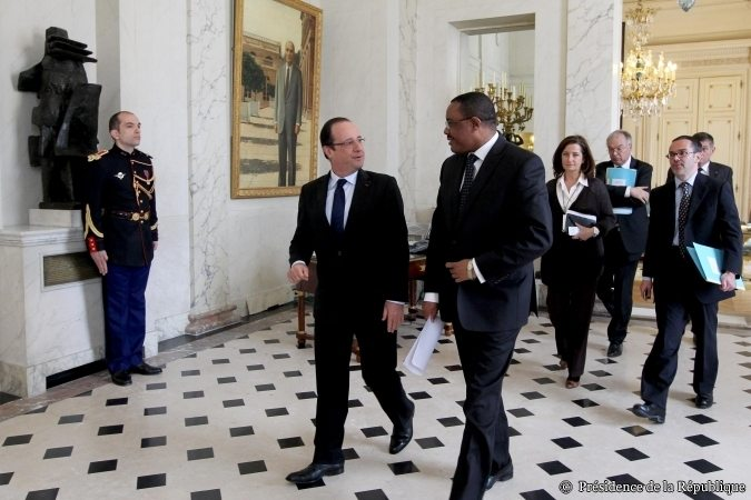 President Francois Hollande and Prime Minister Hailemariam Desalegne