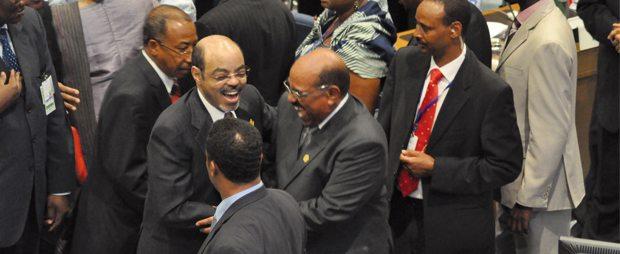 Prime Minister Meles Zenawi and Sudan President Al-bashir