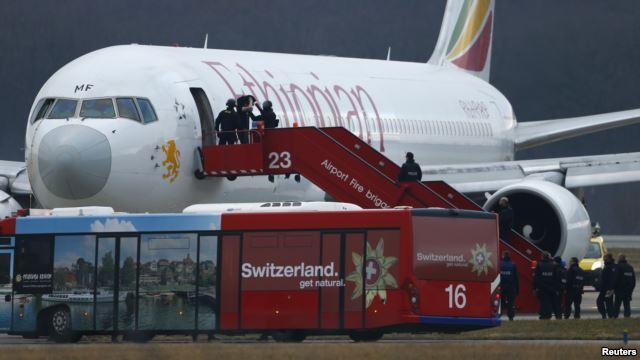 Photo - Swiss authorities detained hijacker - Ethiopian Airlines flight - Geneva's international airport