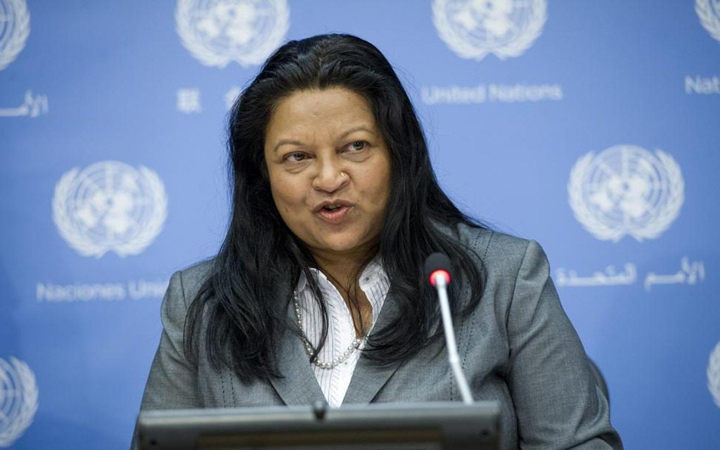 Photo - Sheila B. Keetharuth - Special Rapporteur on Eritrea human rights situation