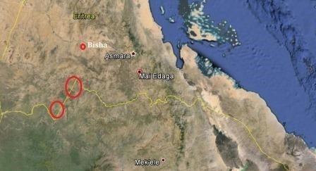 Map - Ethiopia Eritrea military clash