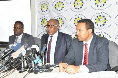 Photo - Ethiopian Election Board chiefs press conference