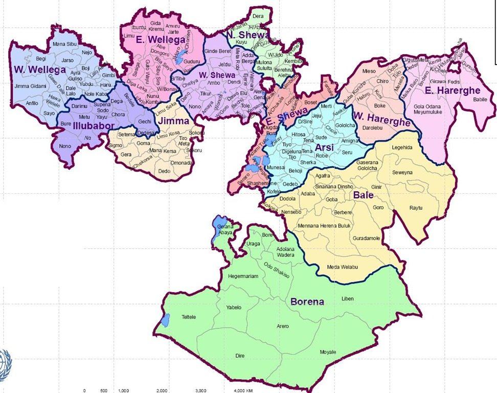 Map - Ethiopia-Oromia