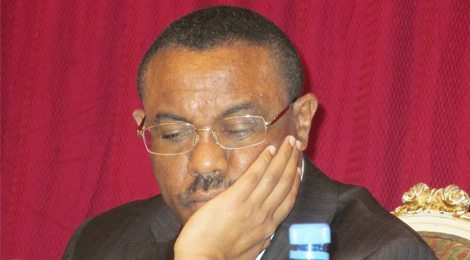 Photo - Ethiopian PM Hailemariam Desalegn [Credit: Addis Standard, Oct. 2015]