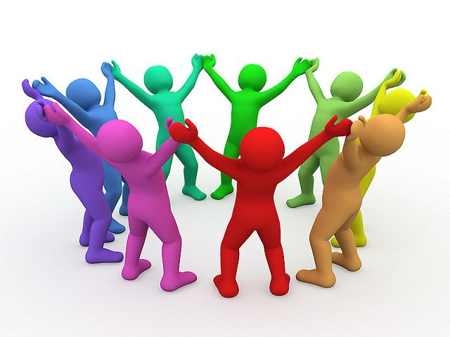 Image - Clipart of people in circle holding hands