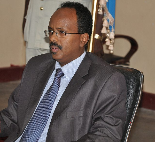 "Photo - Somalia's new president Mohamed Abdullahi Mohamed ""Farmaajo"""
