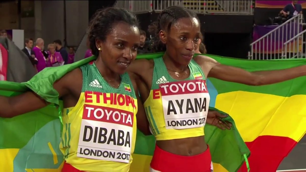Almaz Ayana at the IAAF World Championships London 2017