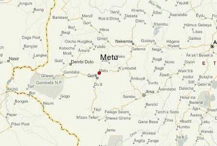 Map - Mettu city, Oromia, Ethiopia