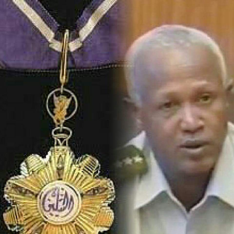 Photo - General Samora and Sudanese military medal
