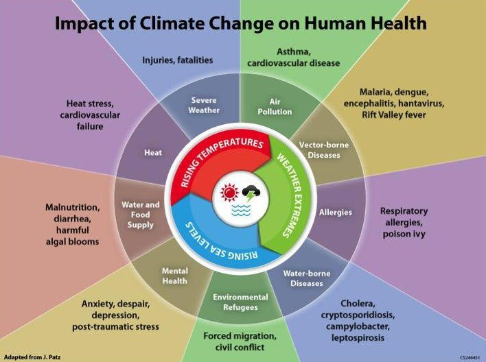 Image - Chart, Impact of Climate Change on human health