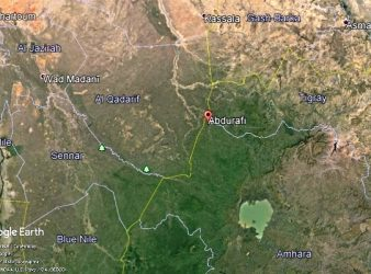 Map - Ethiopia-Sudan common border
