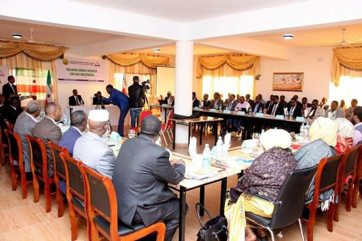 Photo - Somaliland's new Cabinet holding workshop [Credit - Muse Jeeh]
