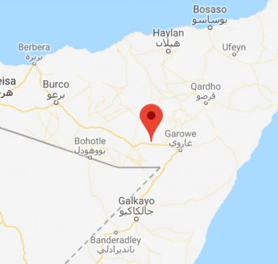Map - Tukaraq, Sool region, Somaliland-Puntland border