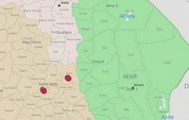 Map - Woldia and Kobo cities, Amhara, Ethiopia