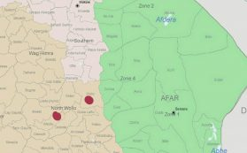 Map - Woldia and Kobo cities, Amhara, Ethiopia
