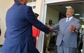 Photo - Somaliland President Bihi and Djibouti President Ismael Gileeh at Djibouti Airport VIP terminal