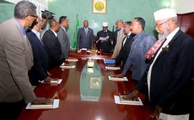 Photo - Somaliland's new cabinet taking oath