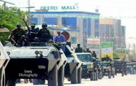 Photo - Military parade at Somaliland independence day, Hargeisa, May 2018