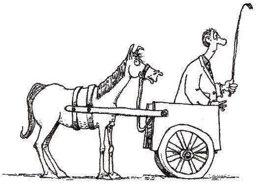 Image - Cart before the horse clipart